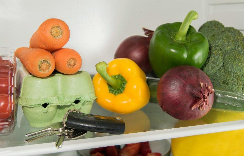 Set of keys left in refrigerator