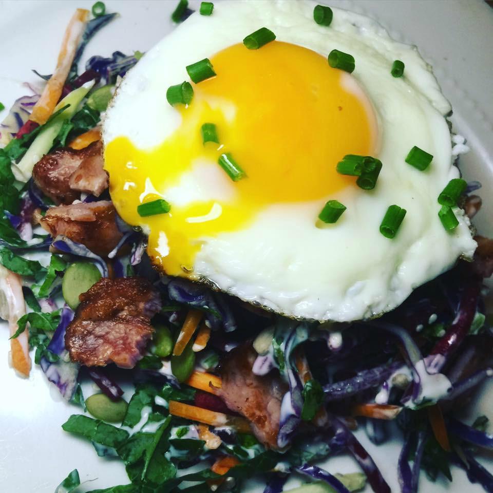 Bacon, Egg and Kale Salad