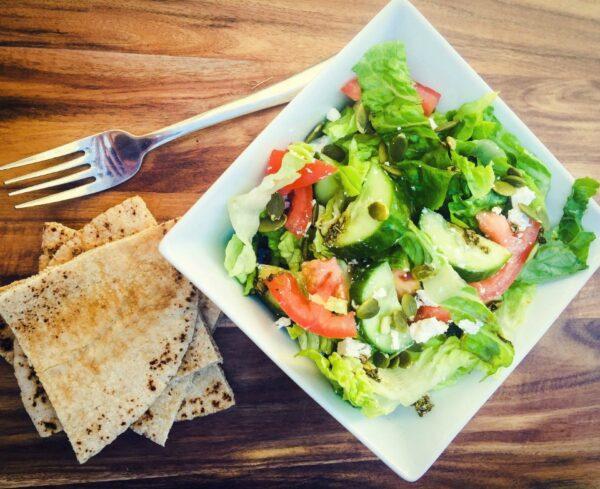Chopped Greek Pita Salad