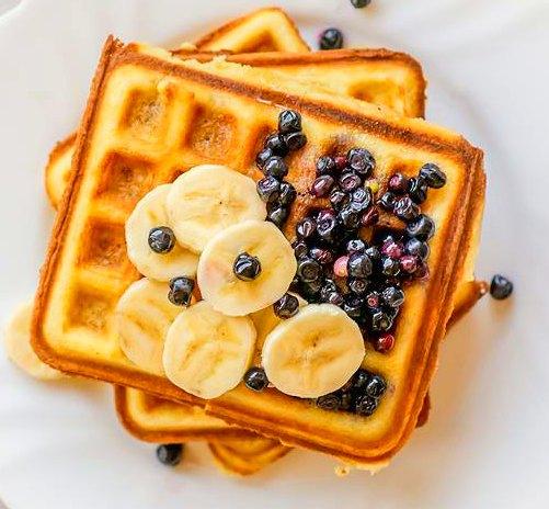 Image of Belgian waffle recipe