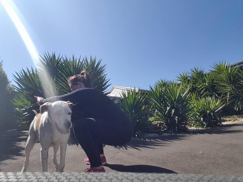 Jenny_Mcphail-swats-while-walking-the-dog