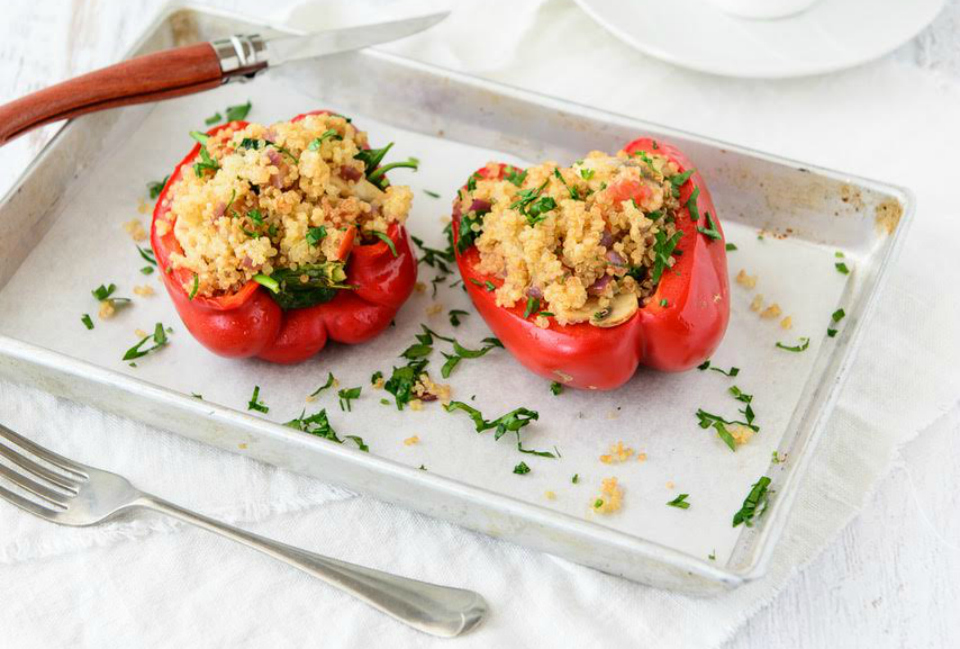 Stuffed Christmas Capsicums