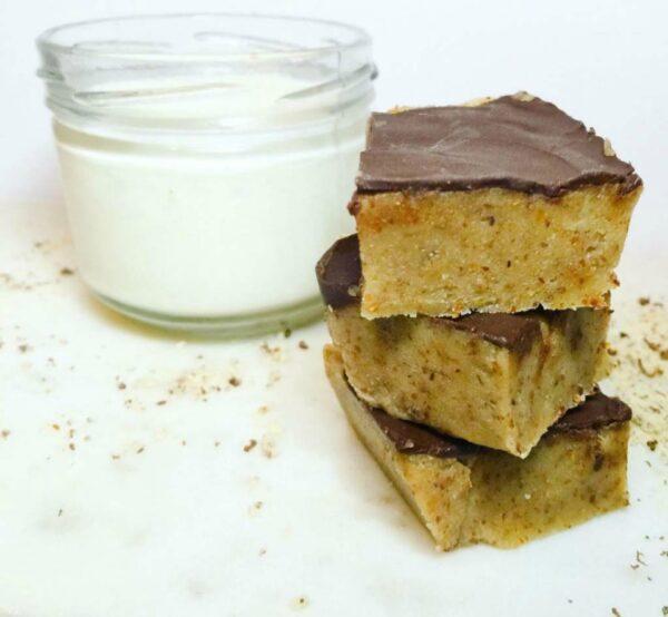 Five ingredient no bake cookie dough bars