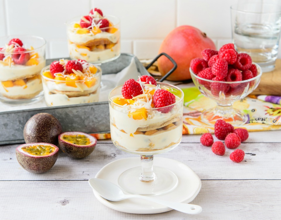 Easy Mango And Passionfruit Trifle