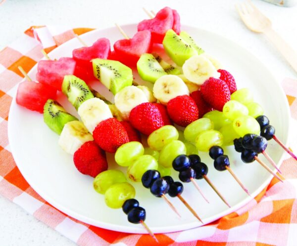Fruit Kebabs With Orange Dipping Sauce
