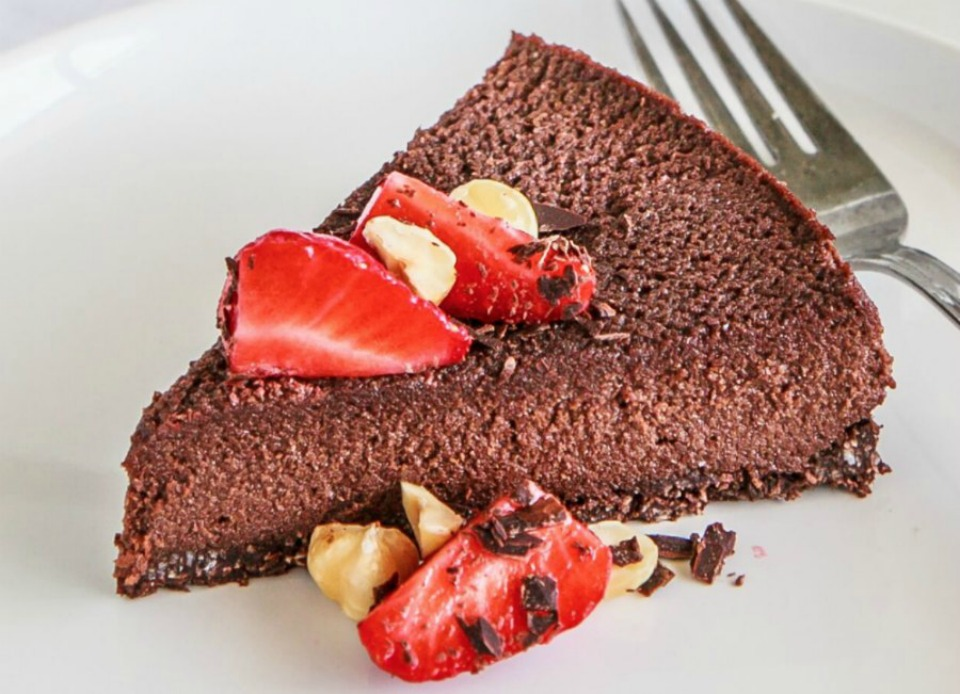Chocolate hazelnut mousse cake calories