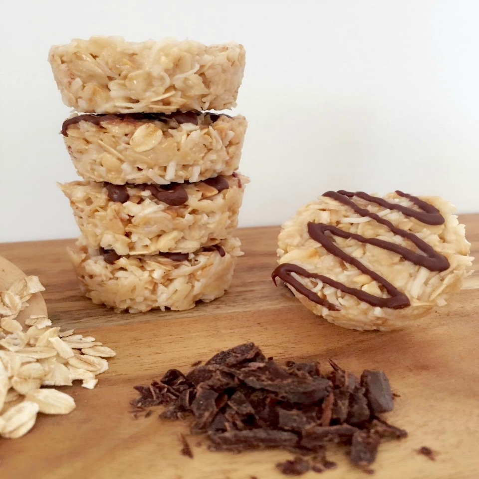 Healthy No Bake Honey Coconut Cookies