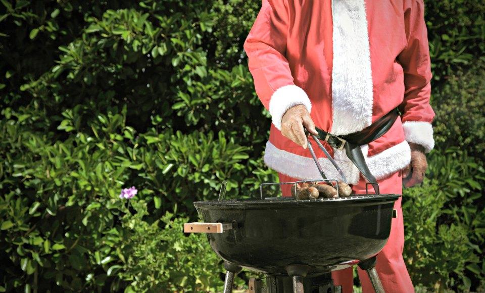 Santa on the BBQ