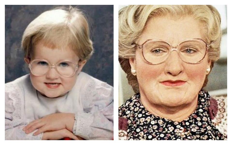 celebrity look alike mrs doutbfire