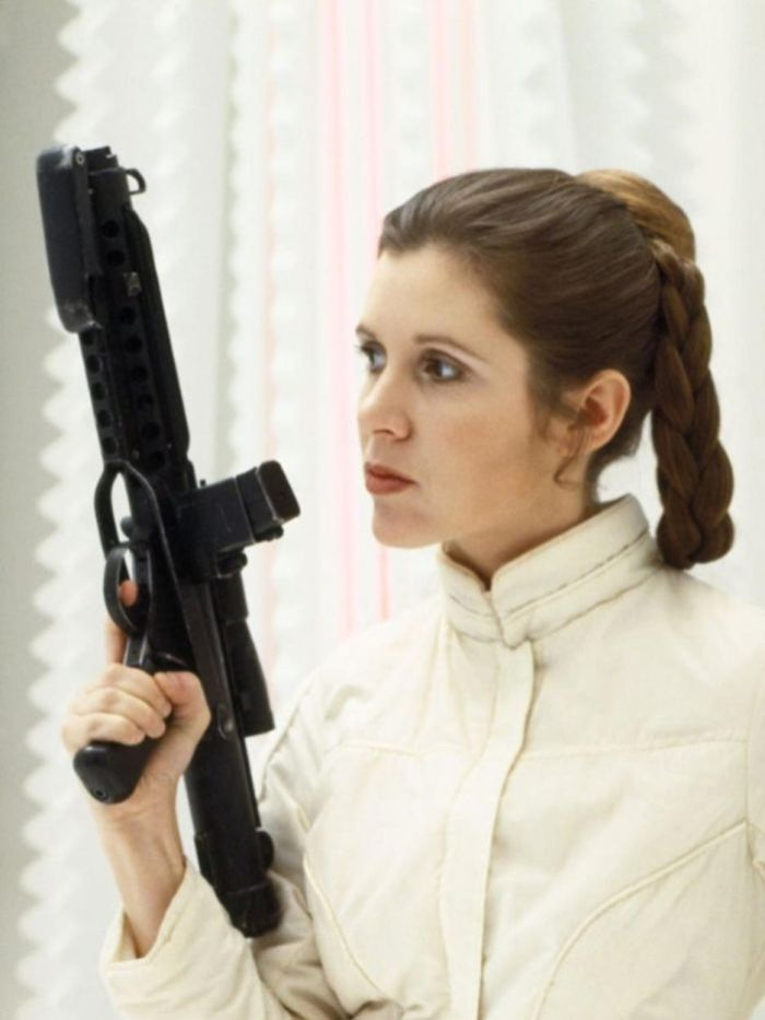 Carrie Fisher is best remembered as Princess Leia in the original Star Wars in 1977. Image source (imdb.com)