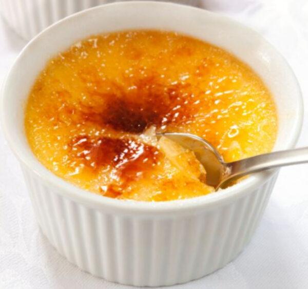 Baked Honey Custard