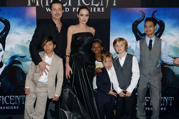 Brad, Angelina and the children in happier times