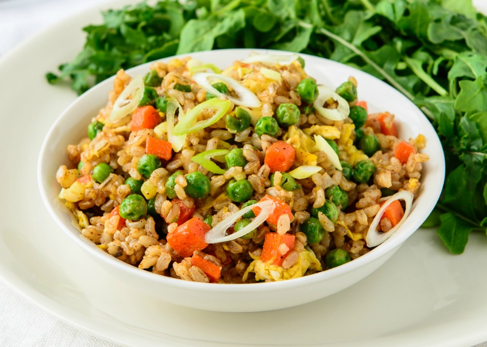 Thai style vegetarian satay fried rice with egg recipe satay fried rice forumfinder Images