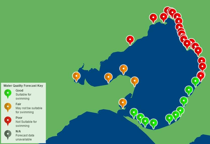 melbourne beaches closed