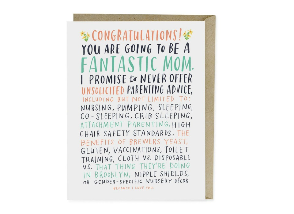 parenting support card congrats
