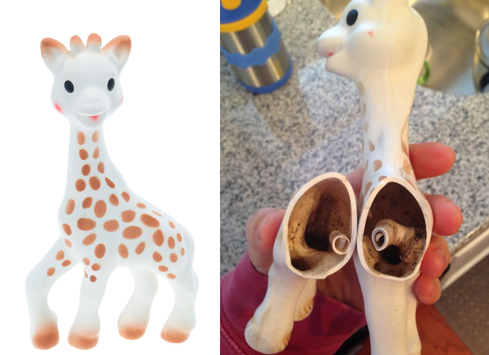 vulli sophie la giraffa  This Is How You're Supposed To Clean Sophie The Giraffe
