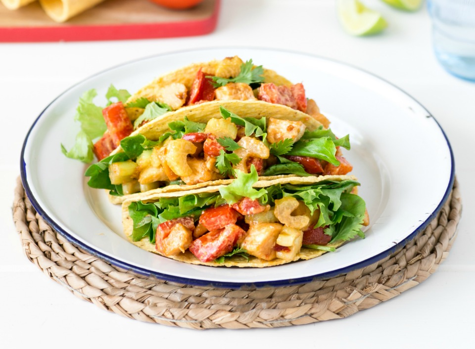 Chicken Satay Tacos