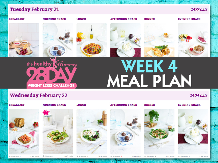 Feb challenge week 4 menu