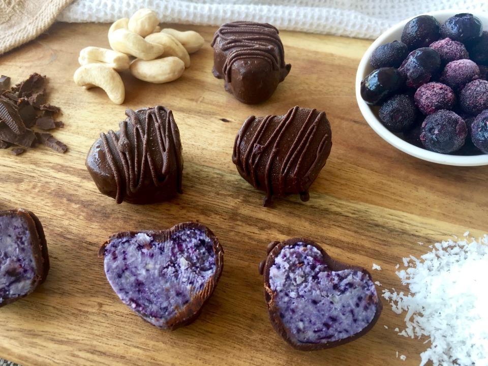 Chocolate Coconut Blueberry Bites