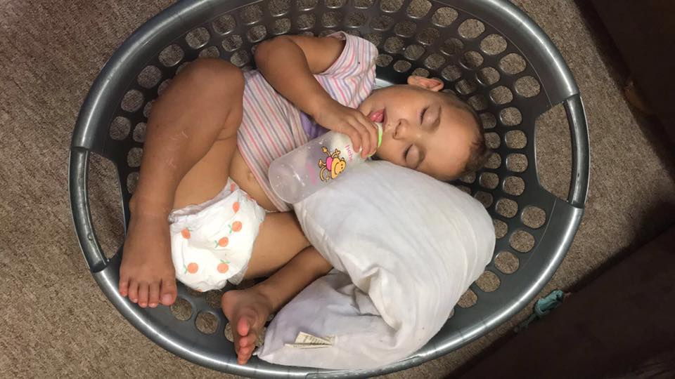 Funny-places-kids-fall-asleep-washing-basket