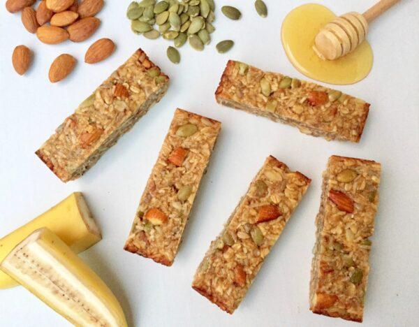 Banana Honey Nut & Seed Bars