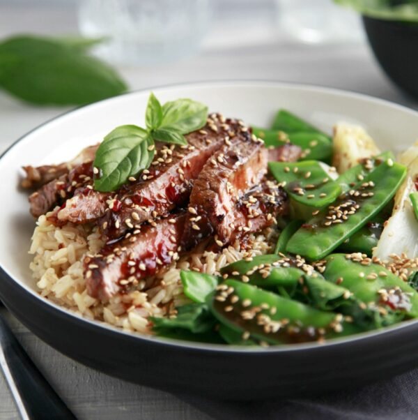 Sesame Beef with Asian Greens