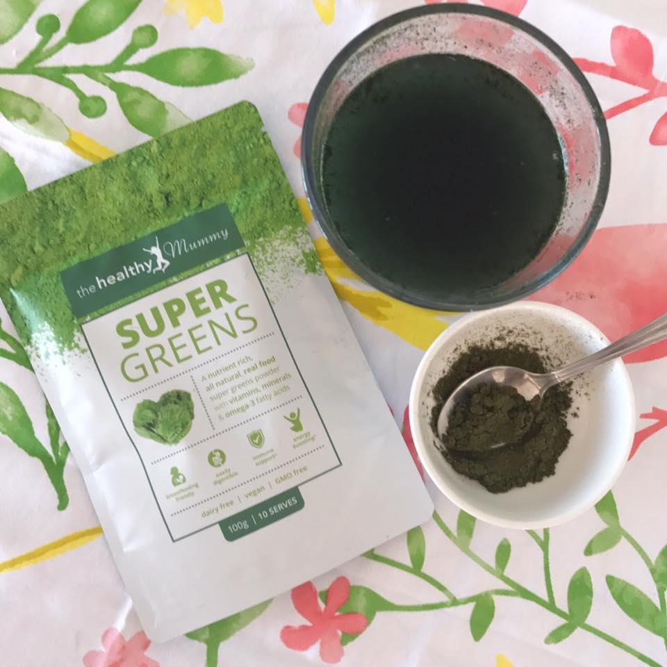 supergreens flat lay