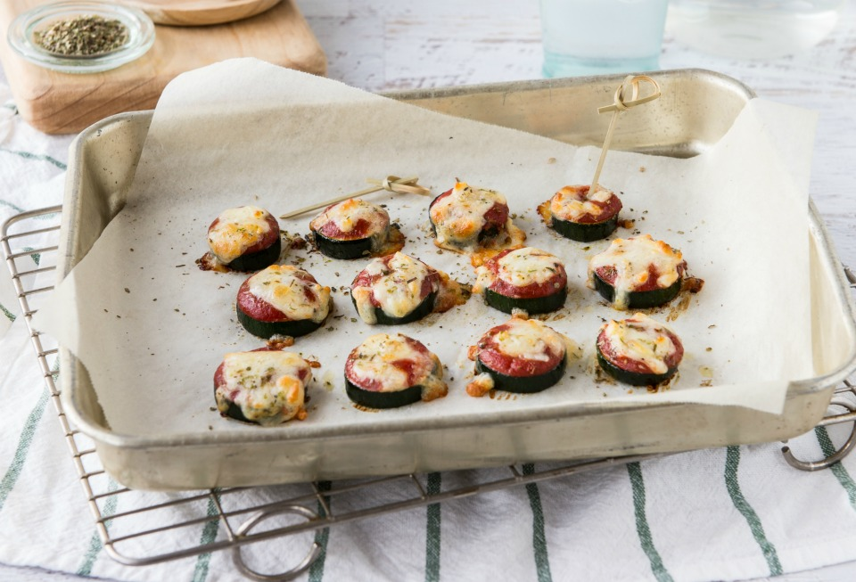 5 Ingredient Zucchini Pizza Bites