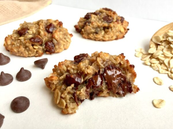Chewy Banana Choc Chip Cookies