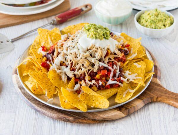 Kid-friendly Mexican chicken nachos