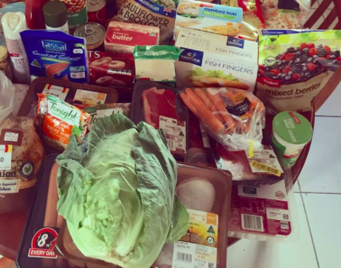 Erin only spends $250 on her weekly shop. Source: Supplied