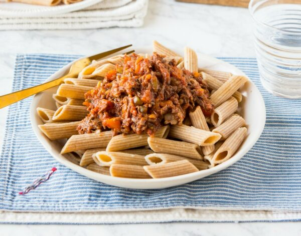 Pasta With Slow Cooked Ragu Sauce
