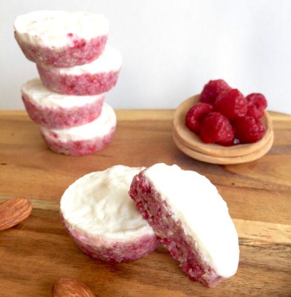 5 Ingredient Almond Berry Yoghurt Tops