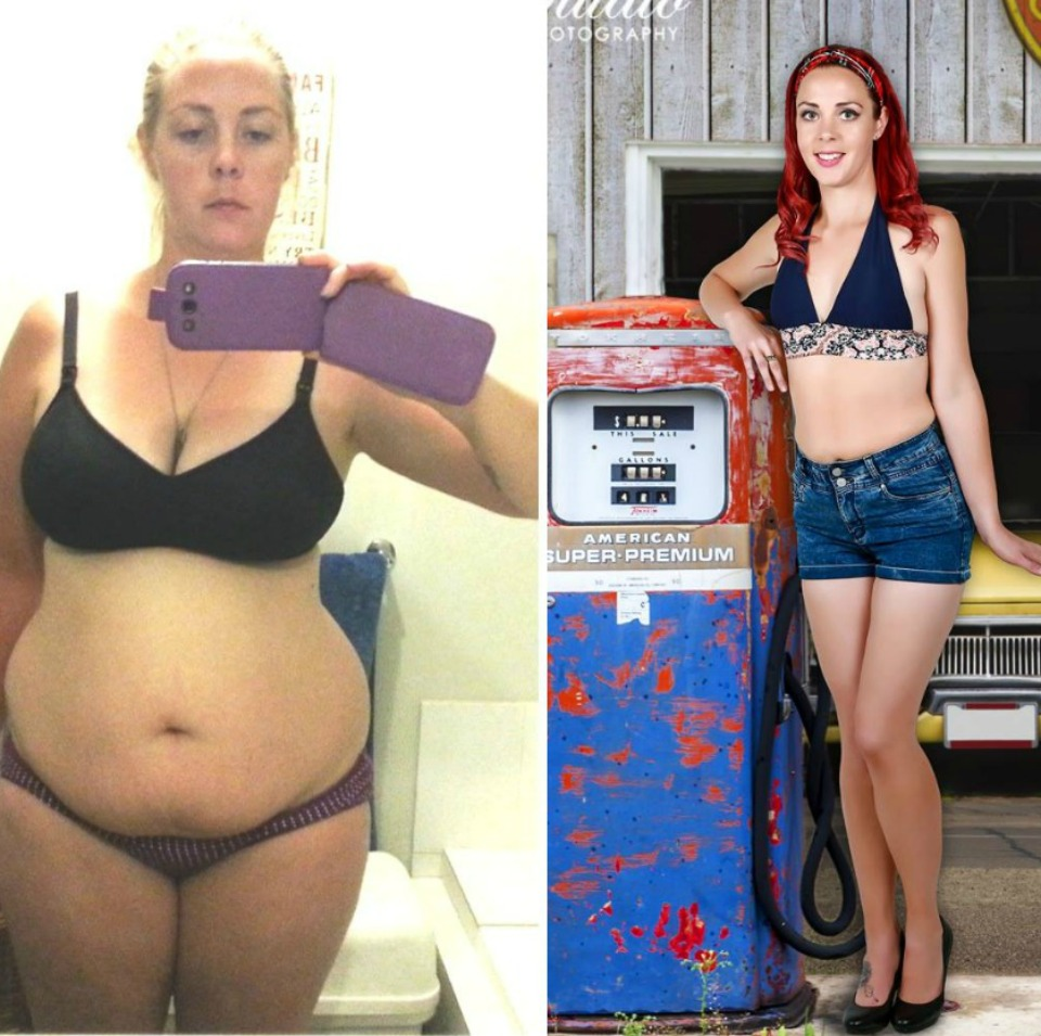 This mama has lost 30kg and looks incredible in this gorgeous pin-up style shoot!