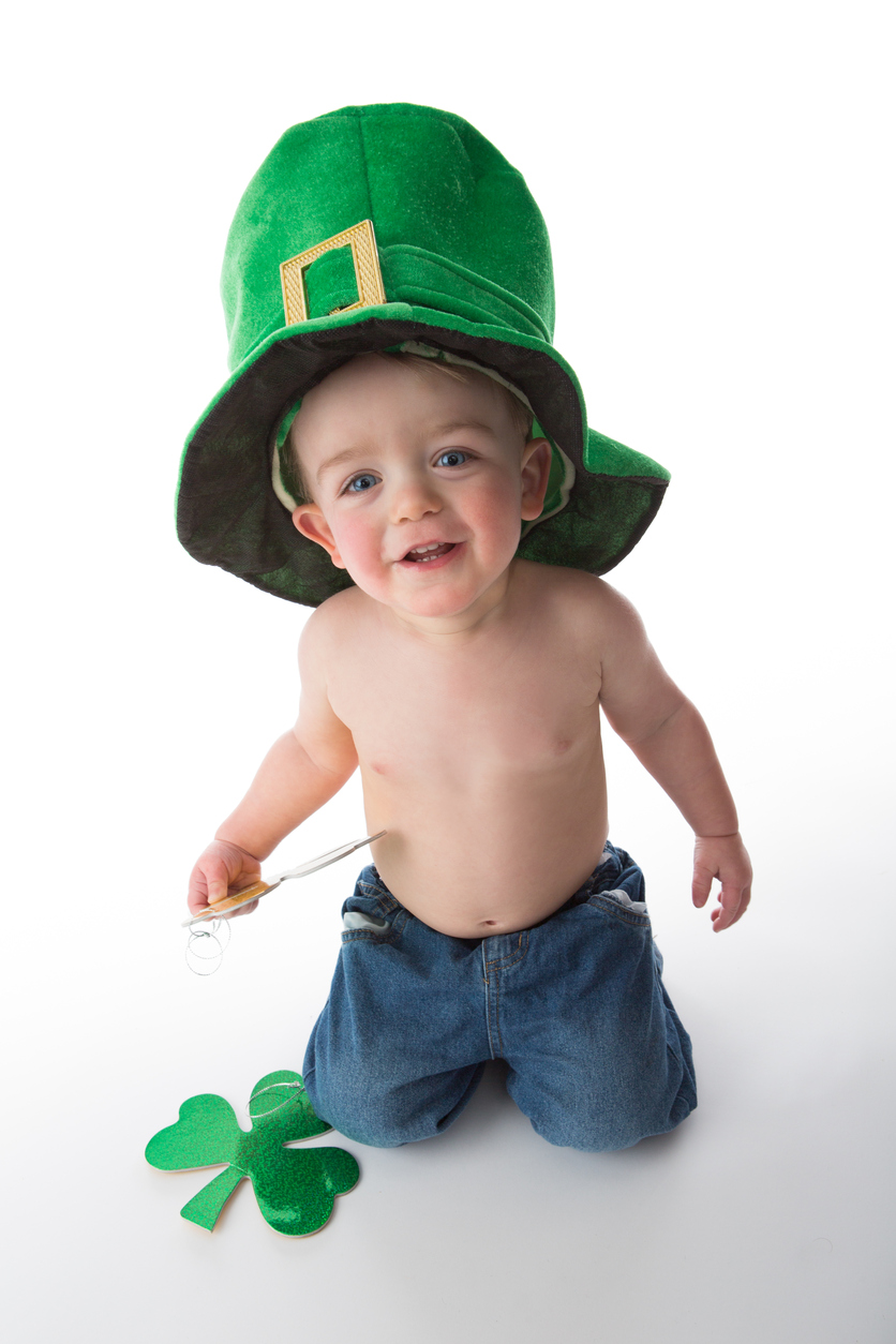 A Young Irish boy Celebrating St. Patrick's Day