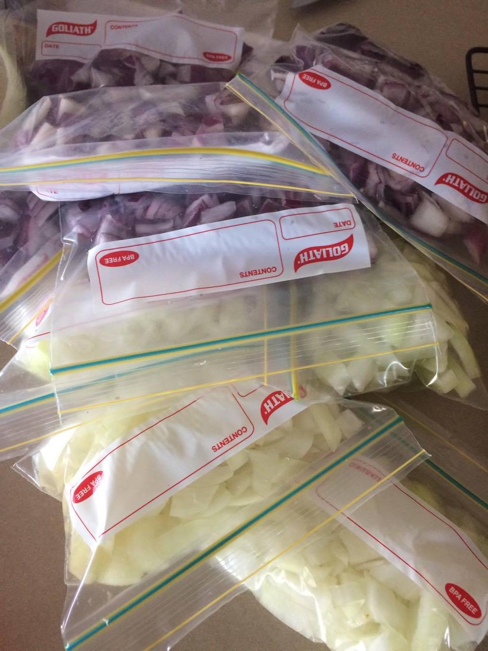 freezing bags