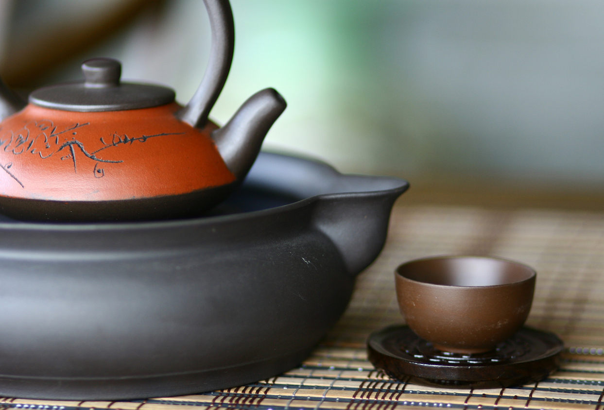 Traditional Chinese Teapot Set with Cup