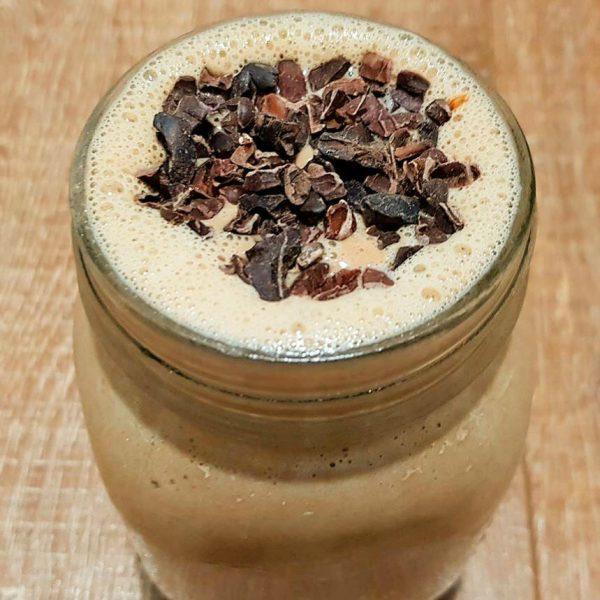 Caramel latte cheesecake smoothie
