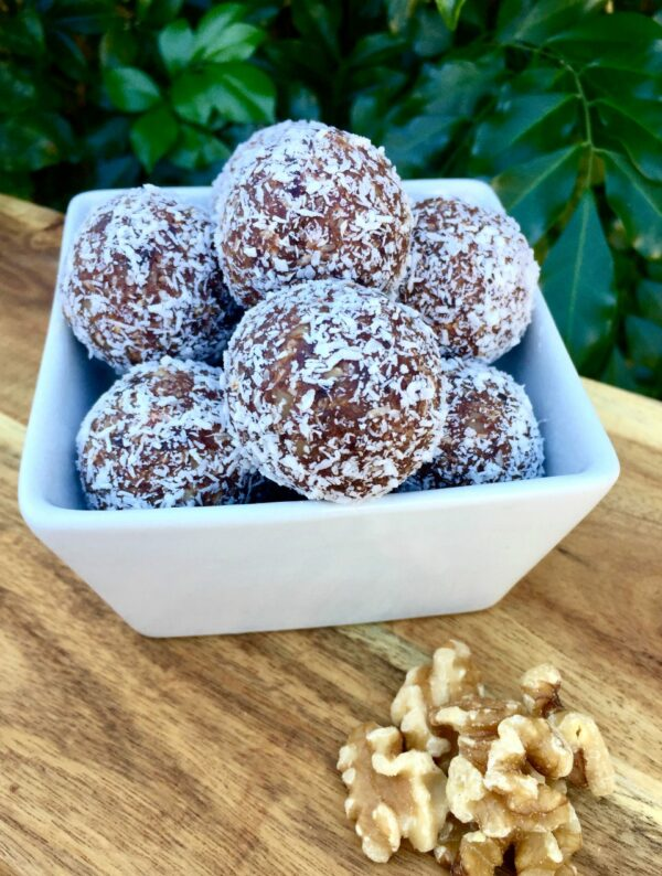 Coconut brownie balls just 147 calories