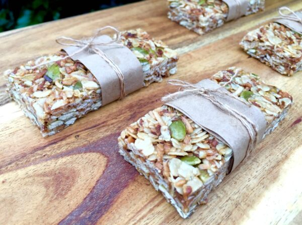 Five Ingredient Honey And Coconut Muesli Bars