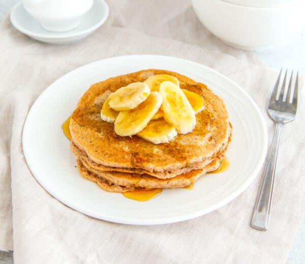 Gingerbread Pancakes With Banana And Maple Syrup