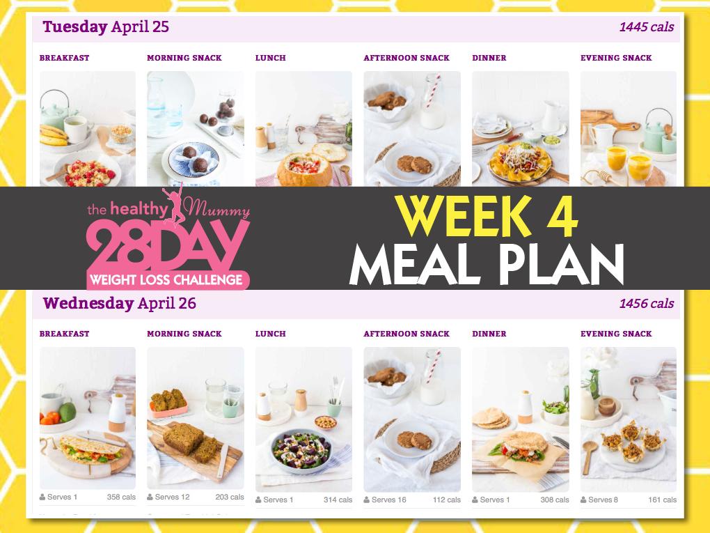 week 4 meal plan