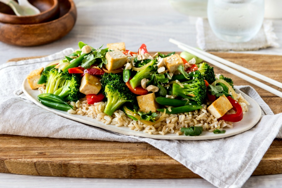 Ginger and Tofu Stir-Fry
