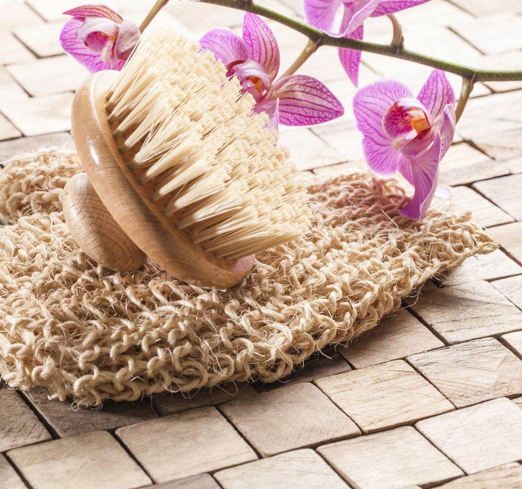 exfoliating bath with beauty massage
