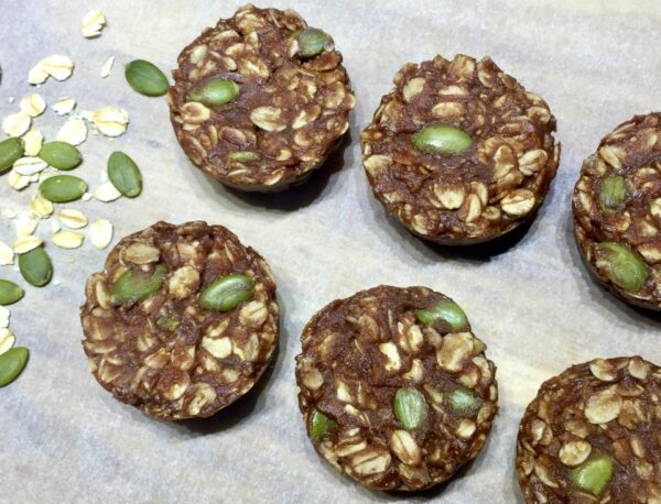 NO BAKE chocolate peanut butter oat cookies - YUMMO!
