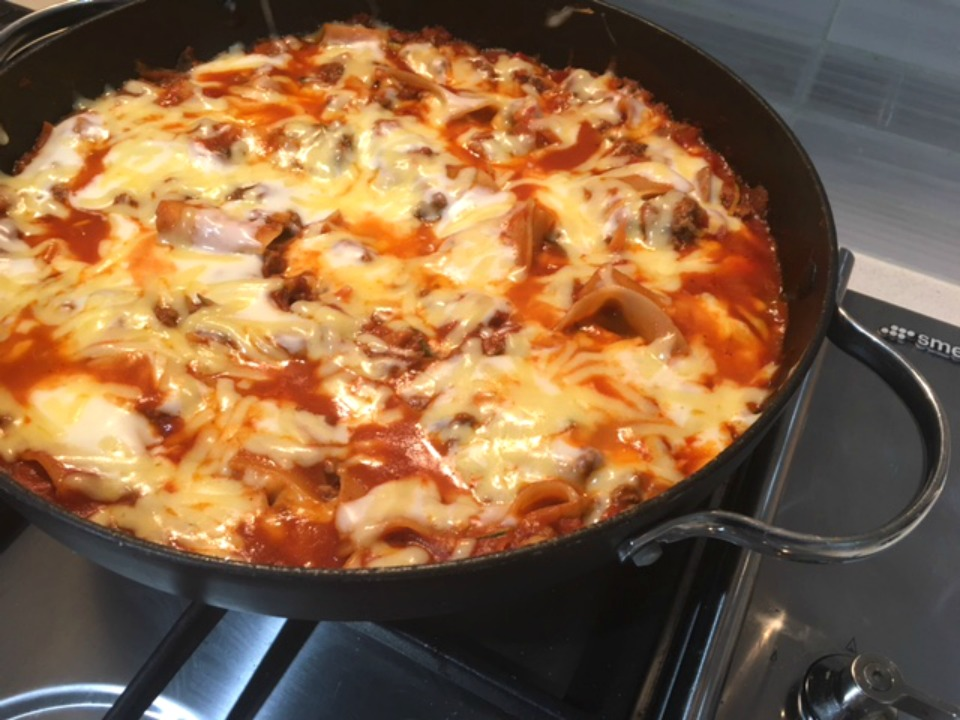 Say what? Family-friendly beef lasagne cooked on the stovetop!