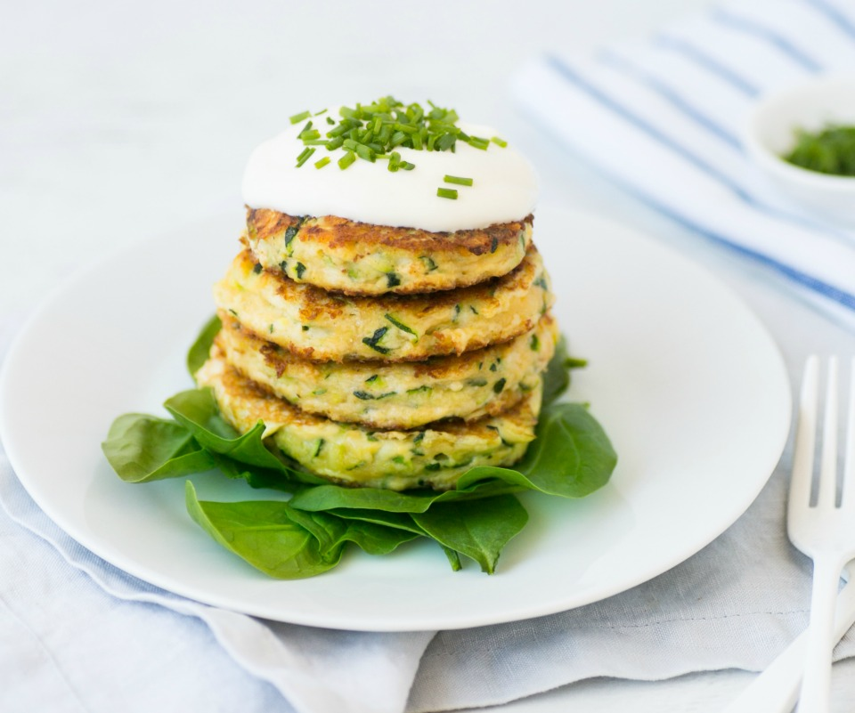Zucchini and Parmesan Fritters