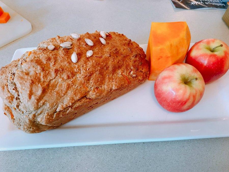 pumpkin apple loaf