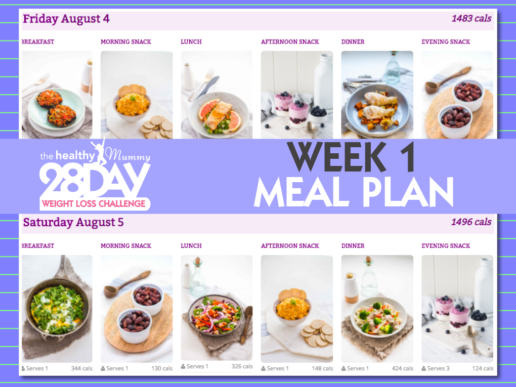 August Week 1 Meal Plan