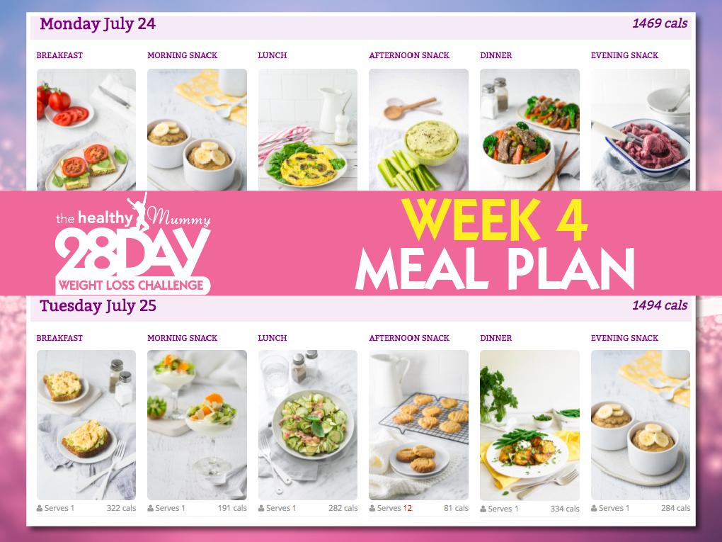 July Week 4 Meal Plan